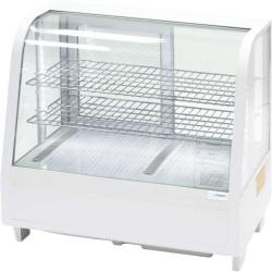 Witryna ekspozycyjna 100 l biała oświetlenie led